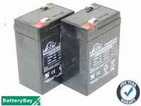2 x Leoch LP6-4.0 - 6volt 4ah Rechargeable Sealed Lead Acid Batteries